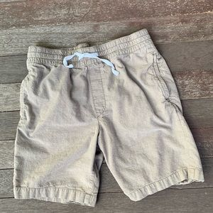 Men's khaki shorts.